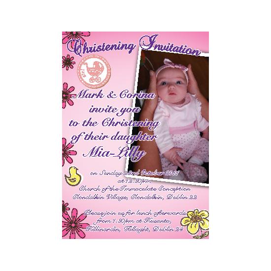 Christening Invitation - Style Girl 1