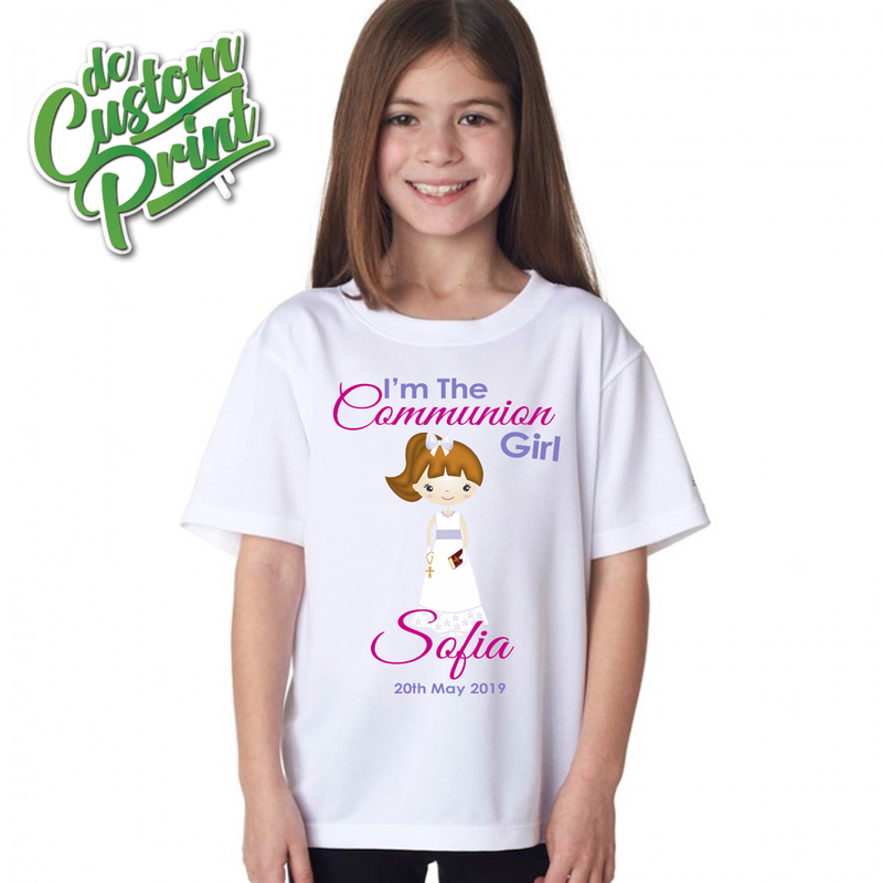 Personalised communion tshirt