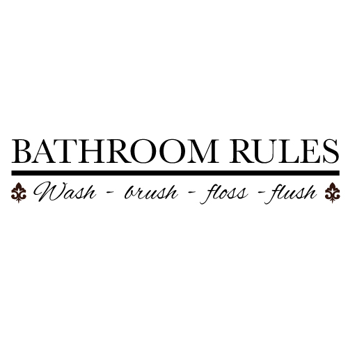 Wall decal - Bathroom Rules