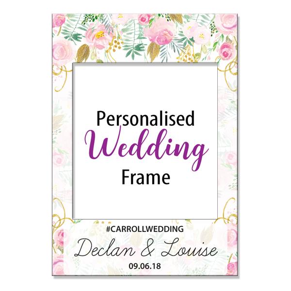 Floral wedding photo frame