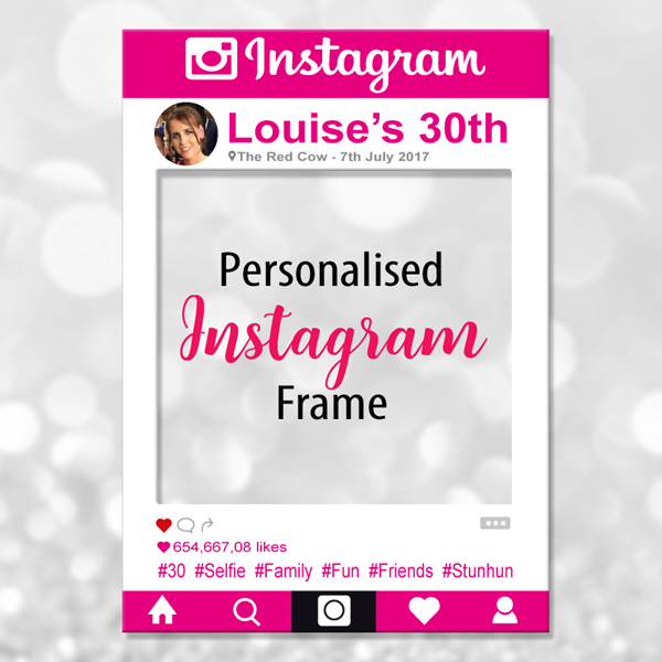 Instagram Photo Frame - Pink