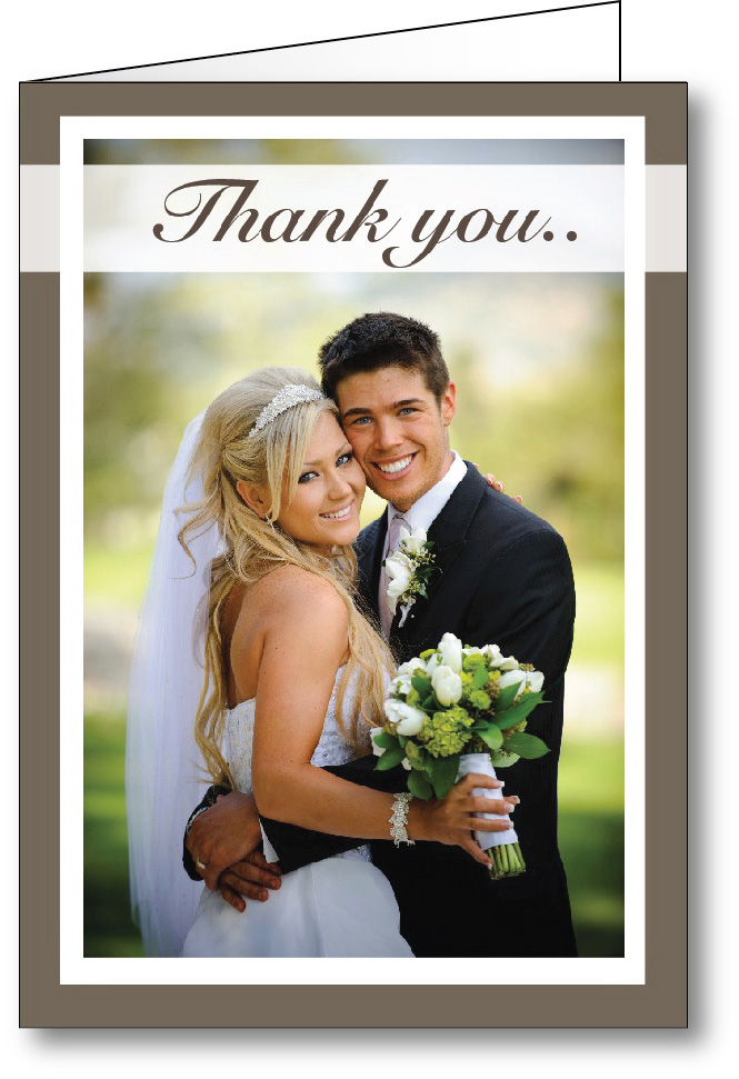 Thank you card photo - A6 solid frame