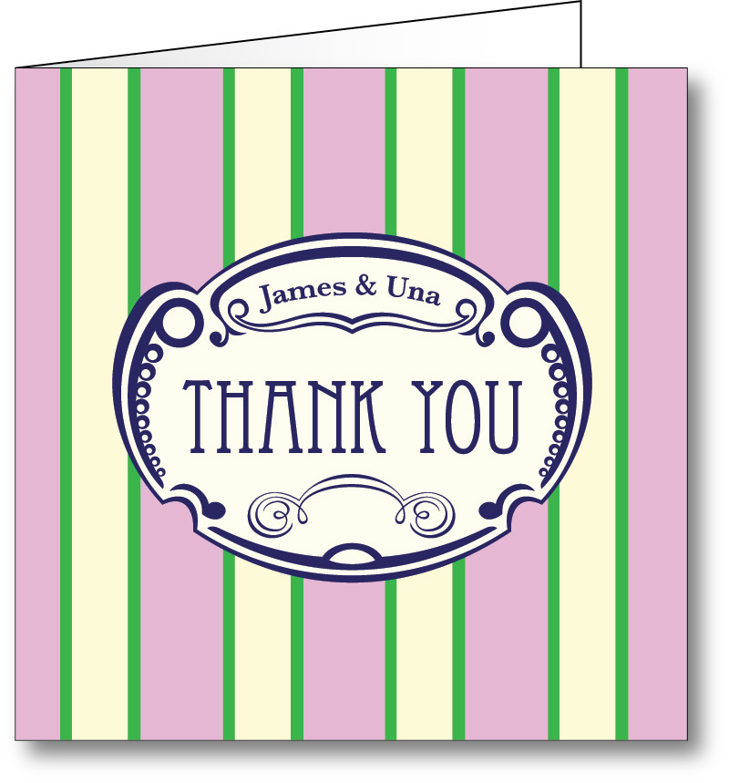 Thank you card vintage 4