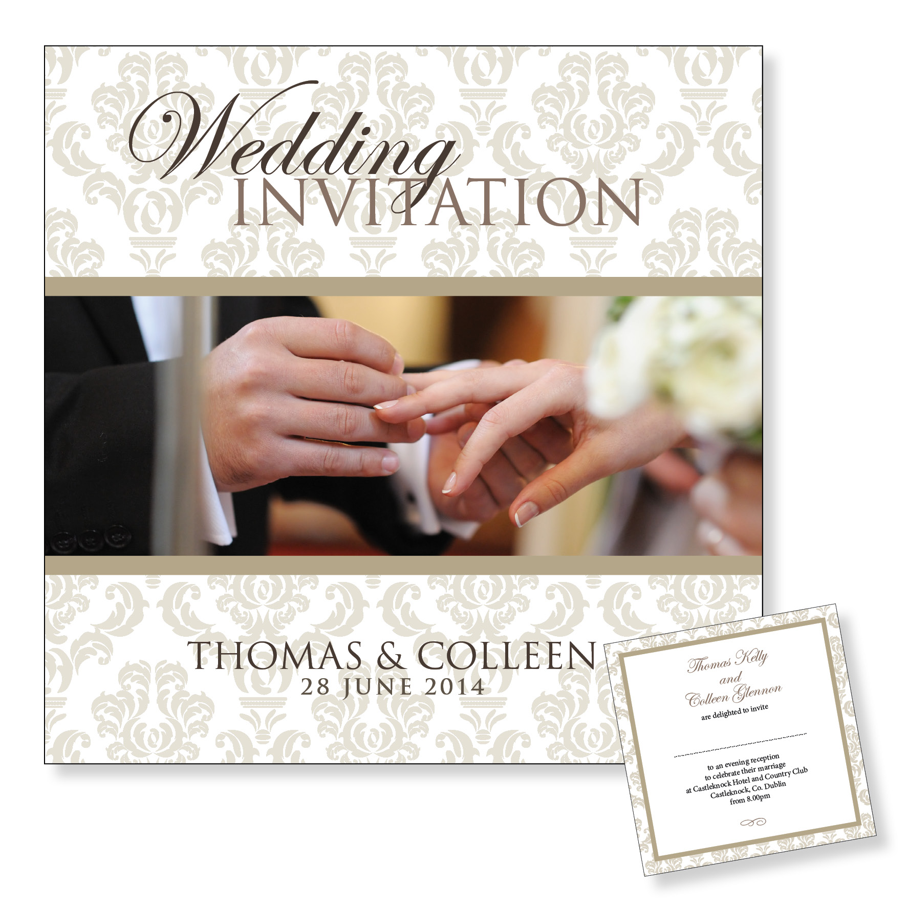 Evening wedding invitation - I do