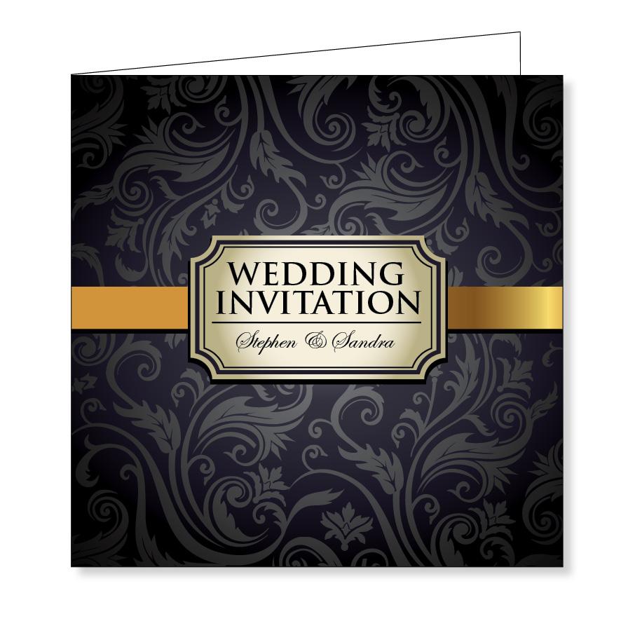 Wedding Invitation - Vintage black