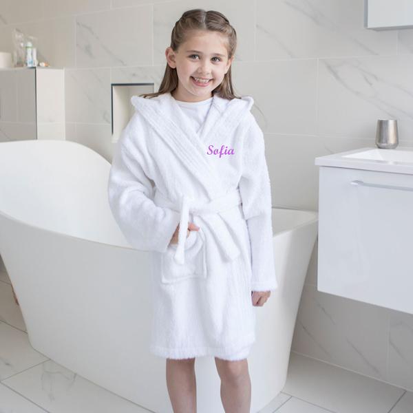Personalised kids bathrobe