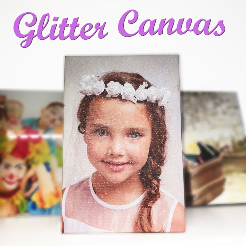 Diamond dust glitter canvas prints