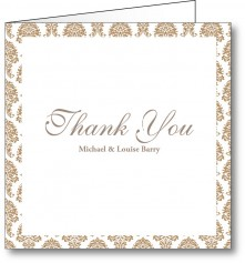 Thank you card vintage 2