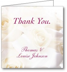 Thank you card white roses