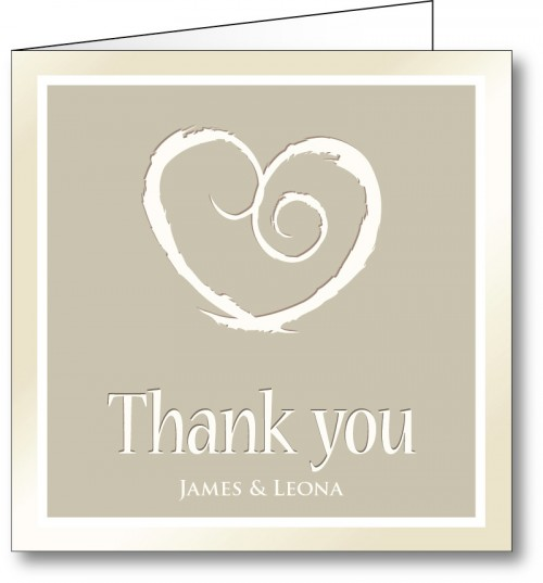 Wedding thank you card