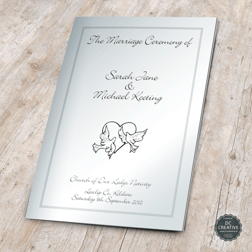 Wedding mass booklets for Mass booklet templates