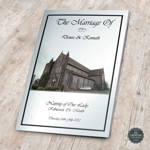 Personal wedding mass booklet