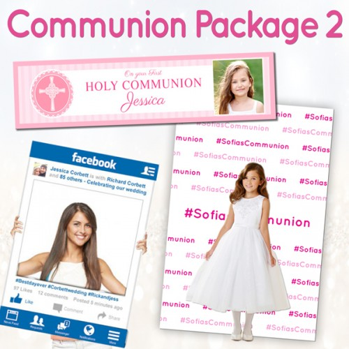 communion confirmation banner backdrop party frame