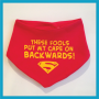Red superman bandana bib
