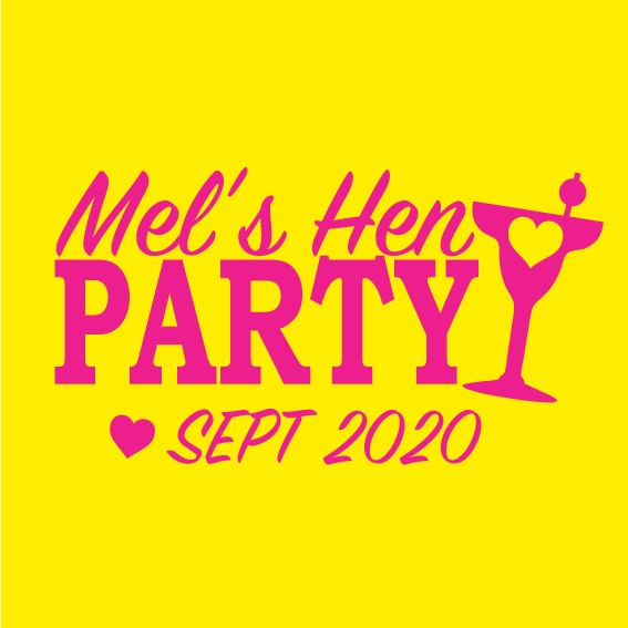 Hens party tshirt - Cocktail