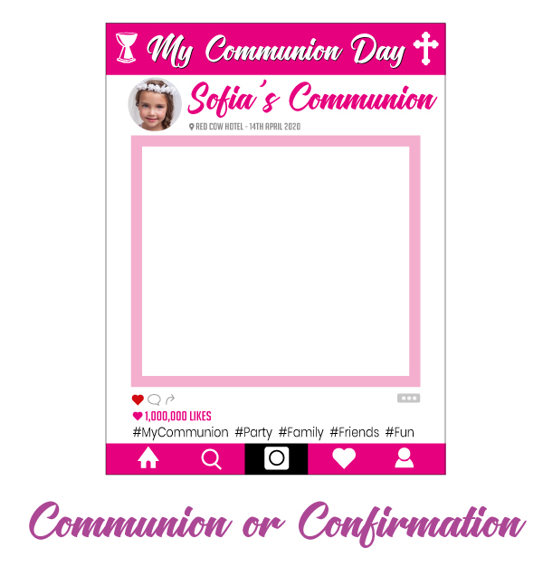 Communion day photo frame