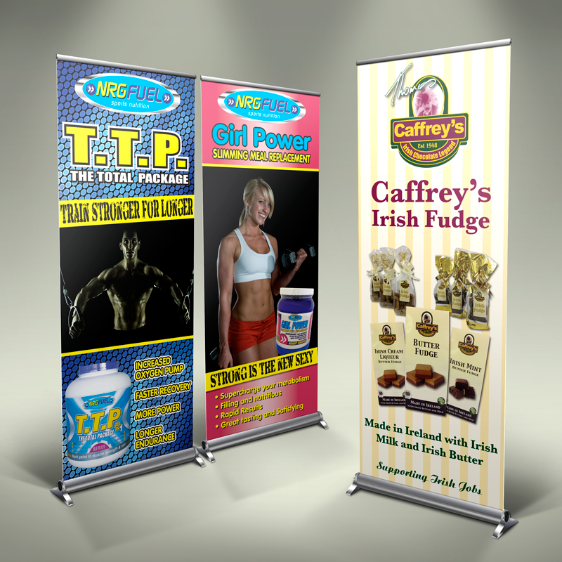 Roll up banner with graphic