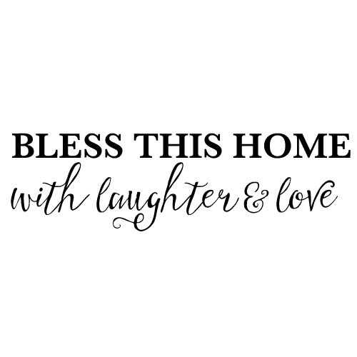 Wall decal - Bless this home