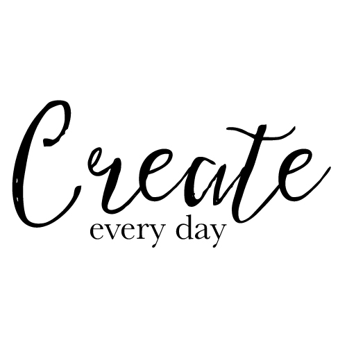Wall decal - Create every day