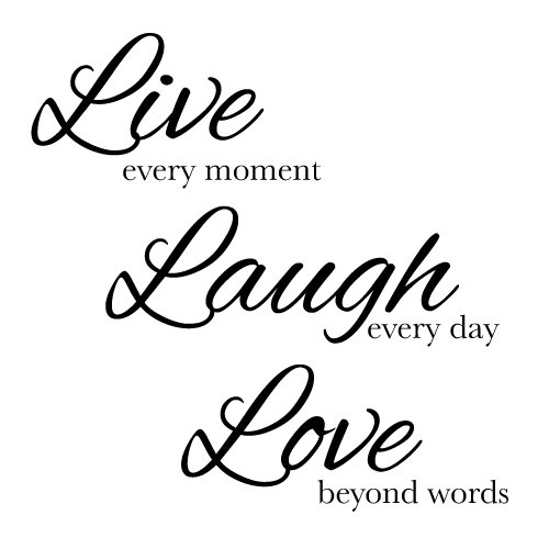 Wall decal - Live Laugh Love
