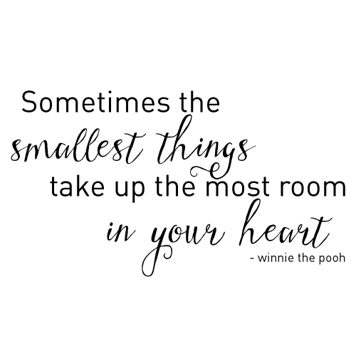 Wall decal - Winnie the Pooh quote