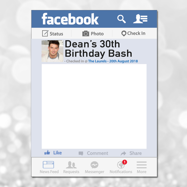 Facebook photo frame