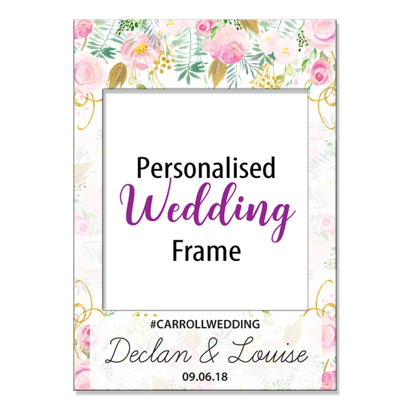 Floral wedding photo frame