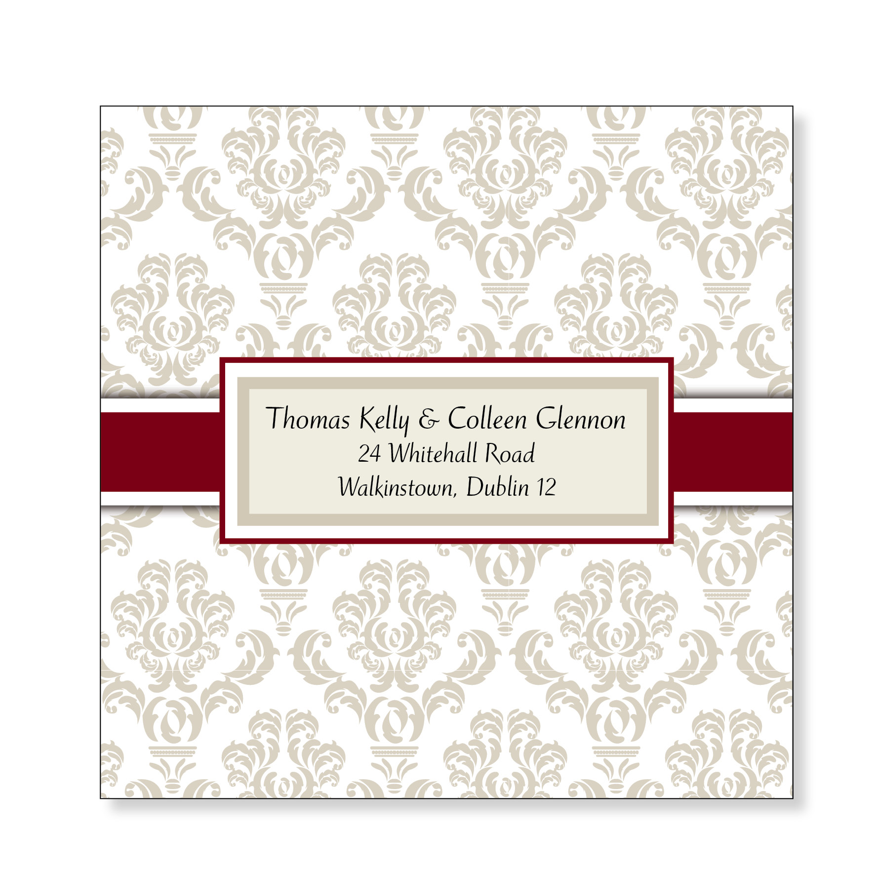 Wedding Reply Card - Classic