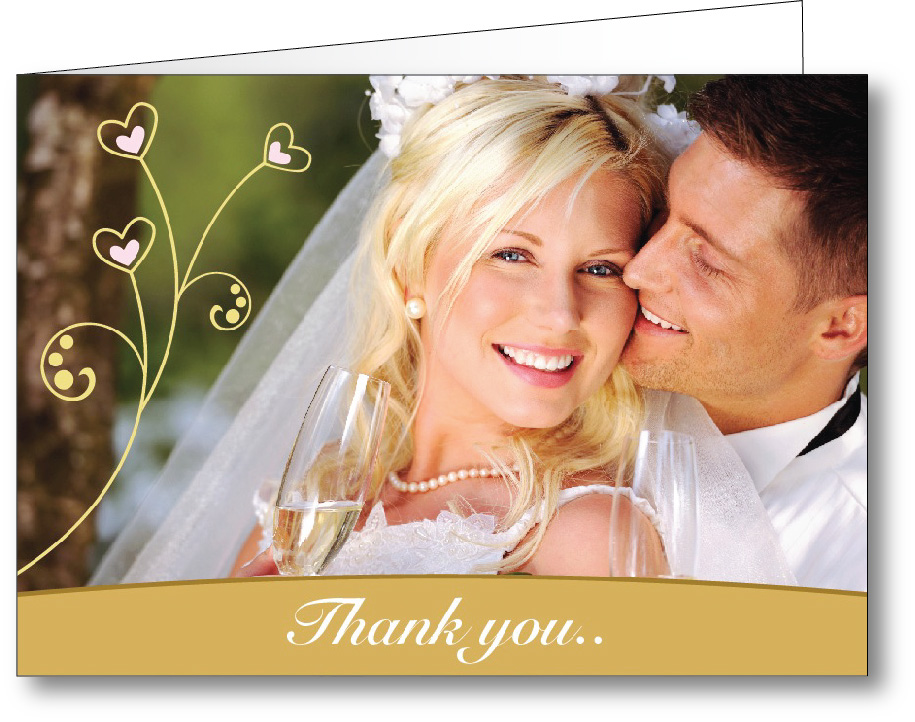 Thank you card photo - A6 landscape