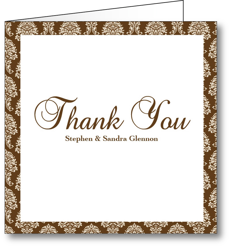 Thank you card vintage 1