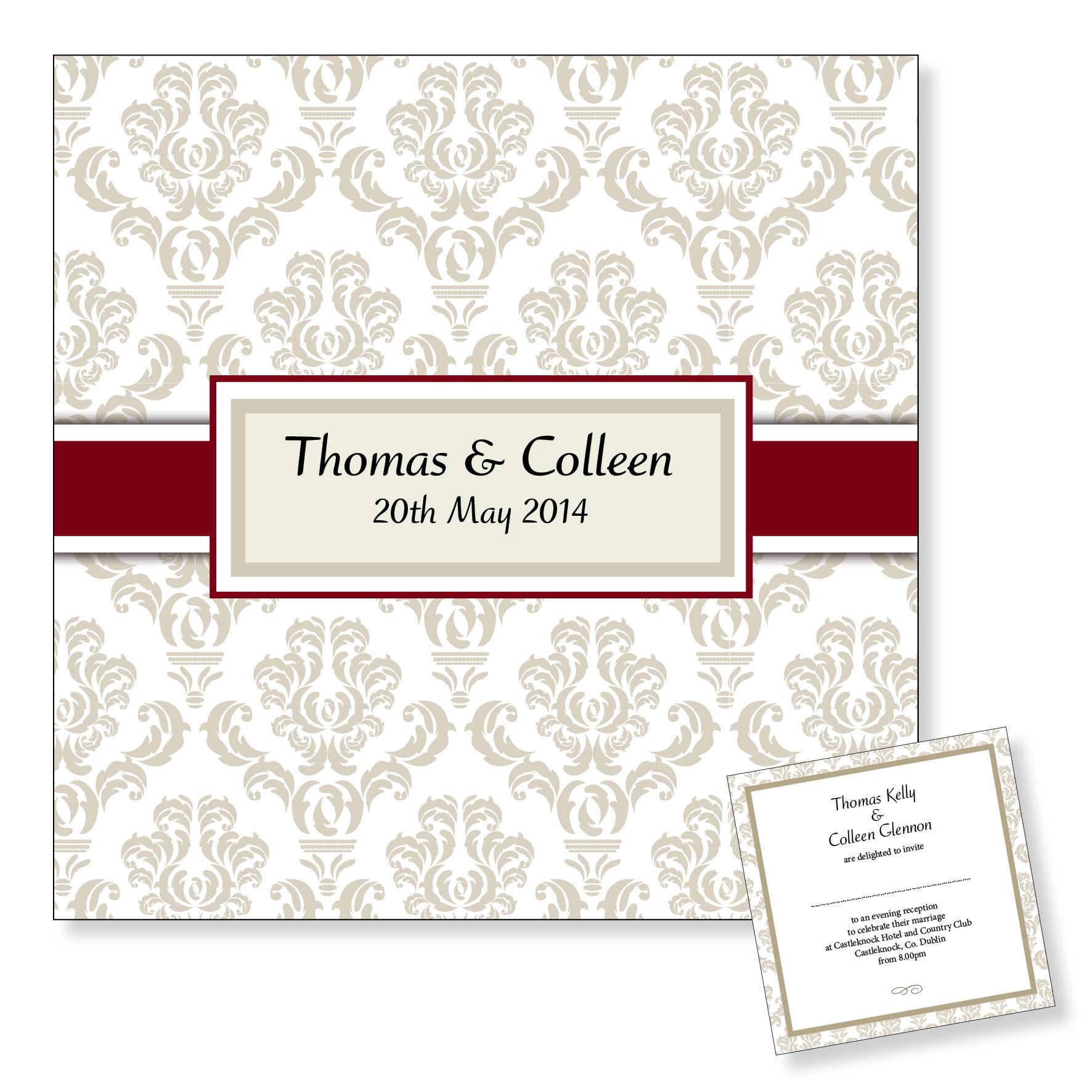 Evening wedding invitation - Classic style