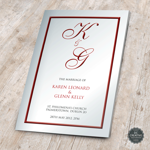 Wedding Mass Booklet - Colour Cover 2