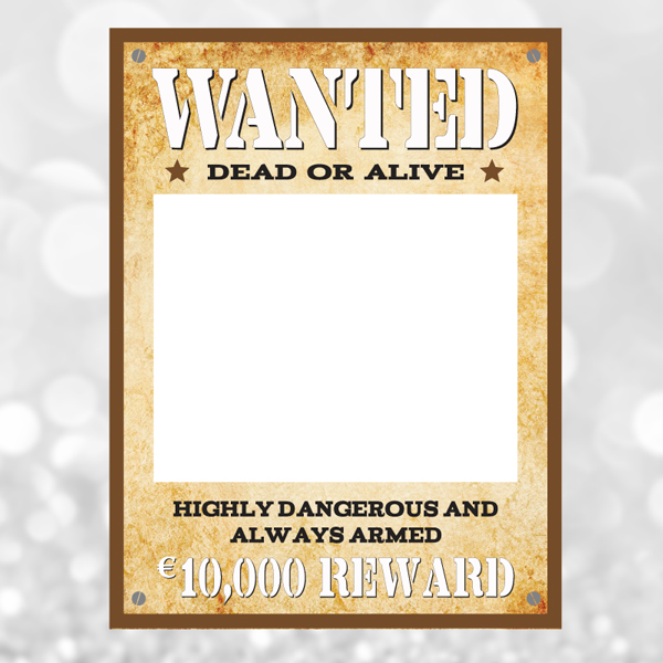 Wanted dead or alive photo frame