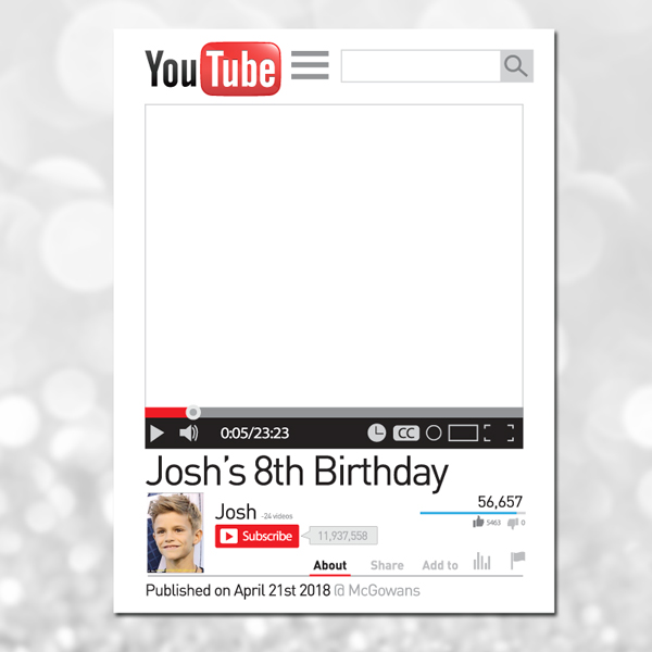 Youtube photo frame