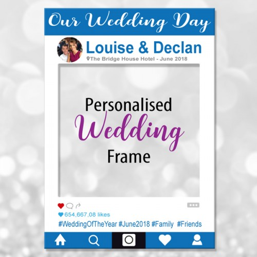 Our wedding day instagram photo frame