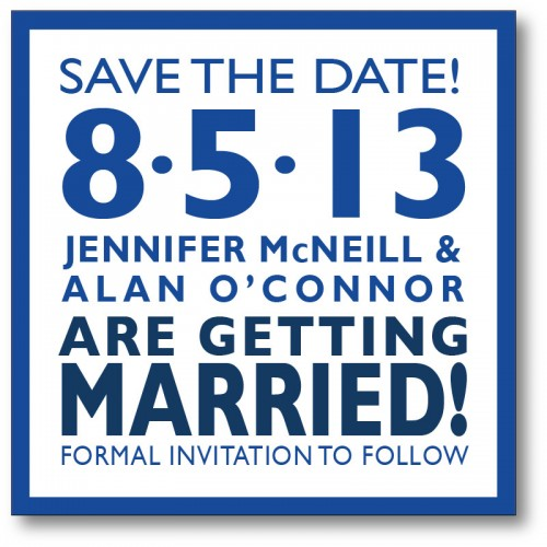 Save the date card - Modern