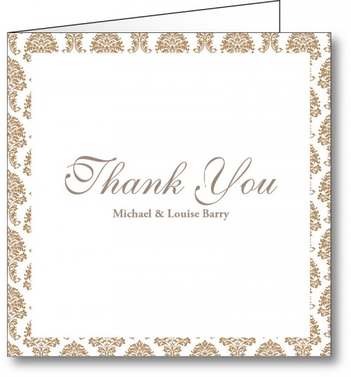 Wedding thank you card vintage 2