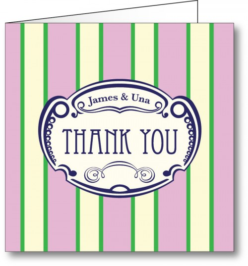 Wedding thank you card vintage 4