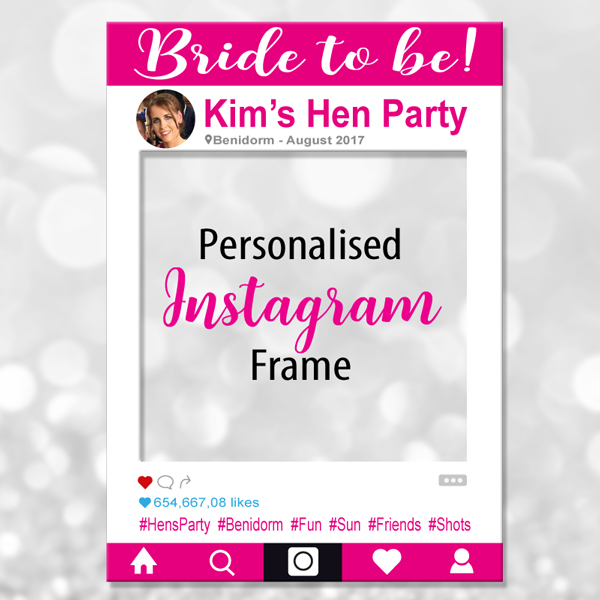 Bride to be Instagram Photo Frame