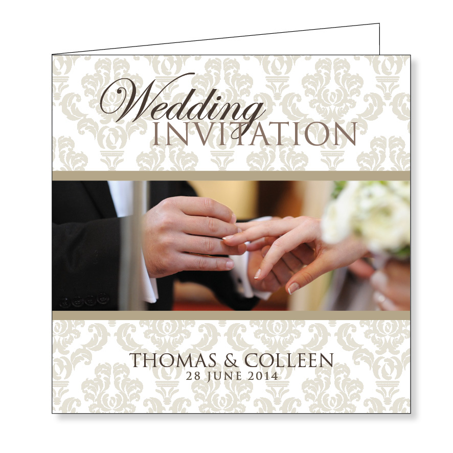 Folding wedding invitation - I do