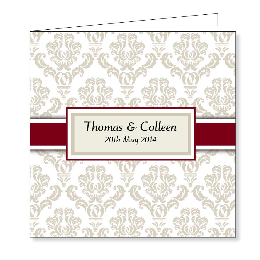 Folding wedding invitation - Classic