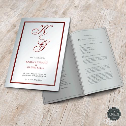 Wedding Gift Registry Ireland: Wedding Mass Booklets From DC Creative, Dublin, Ireland